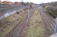 Winson Green station site viewed from bridge