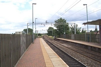 Witton station looking towards the City