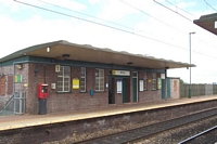 Witton station Birmingham platform building