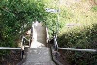 Stairwell into Wood End station cutting