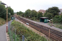 Wythall station viewed from entrance pathway