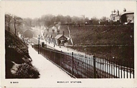 Moseley station postcard c1910