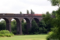 60010 crossing 'Ten Arches Viaduct', Stourbridge